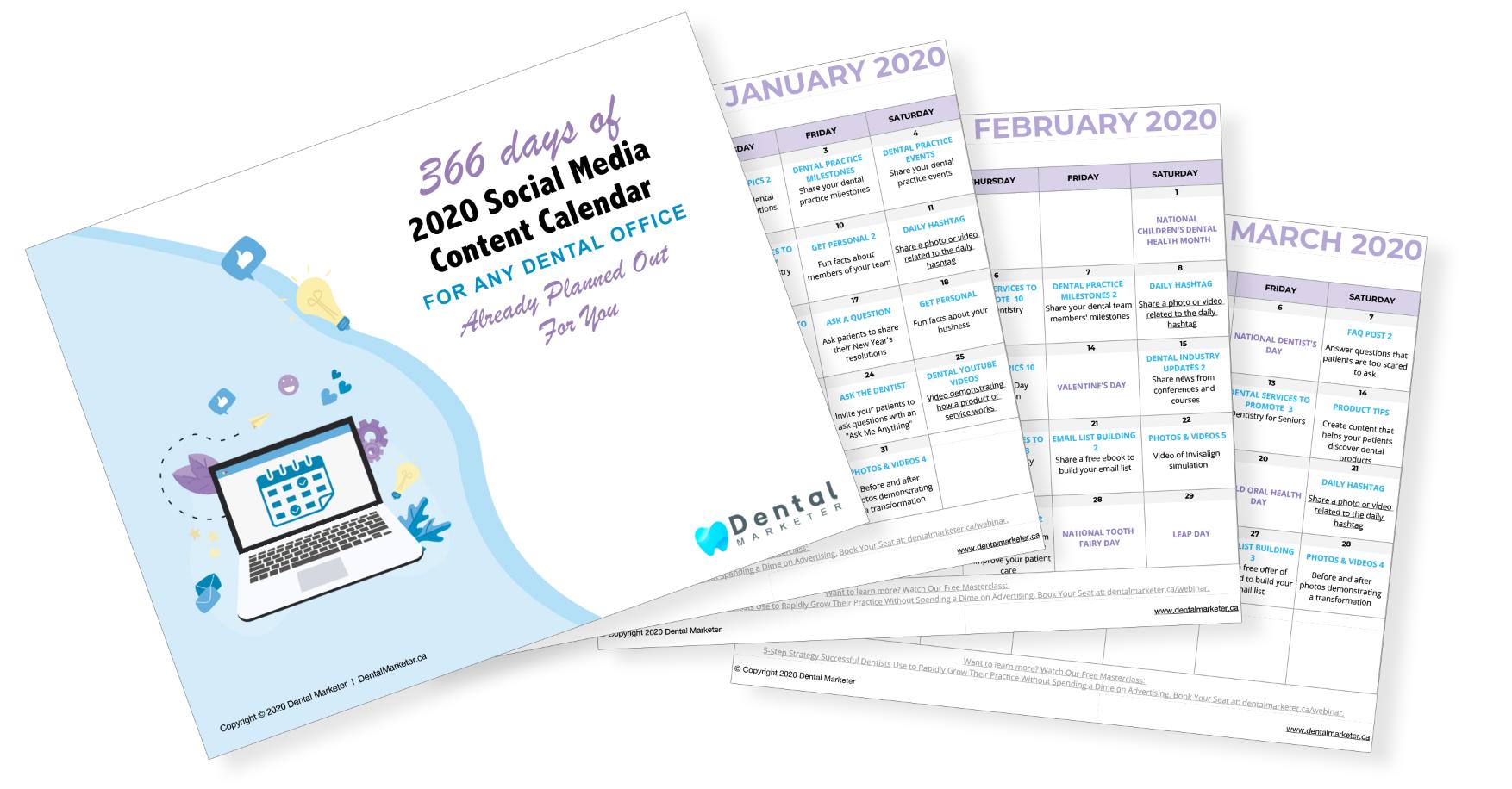 Social Media 2020 Content Calender